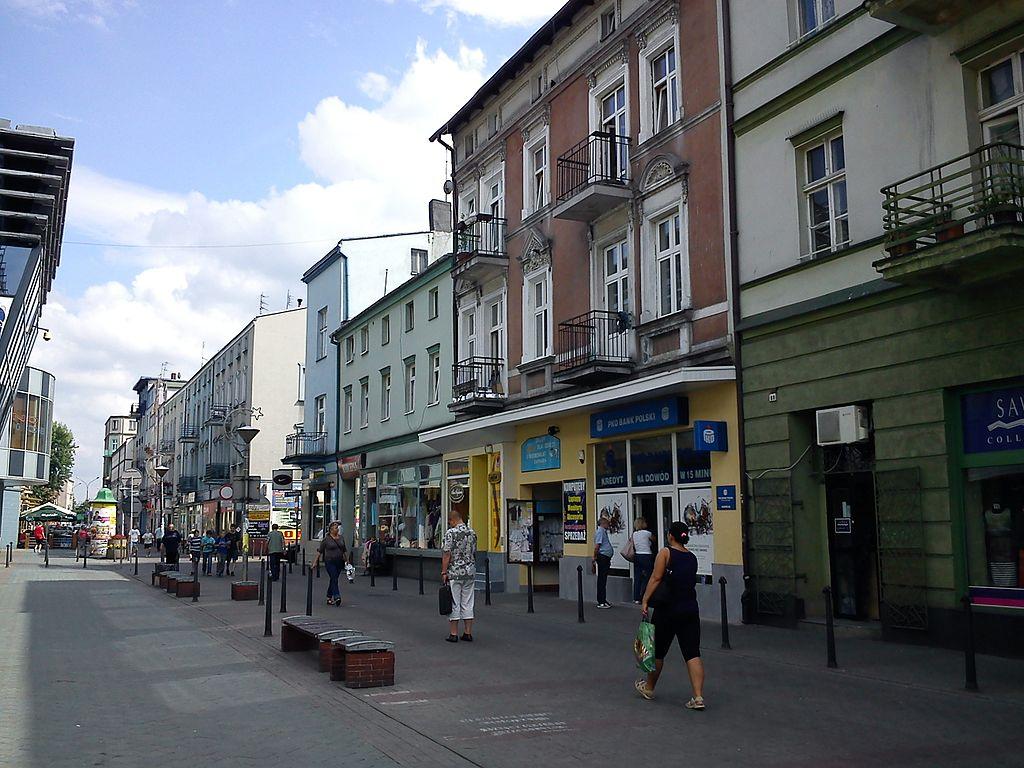 Sosnowiec, ulica Modrzejowska. Fot. Aragorn25x, Wikimedia Commons